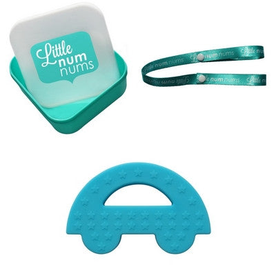 Little Num Nums Teether - Charlie Car Blue