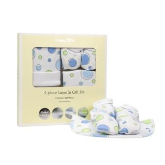 Bubba Blue 4PC Layette Gift Set - Spotty Dotty Blue