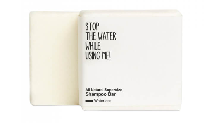 Stop the Water While Using Me! All Natural Supersize Shampoo Bar - Waterless