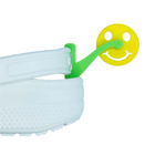 ShoeTails Mini Spinning Spurs Green with Yellow Smiley for Crocs (1 Pair)