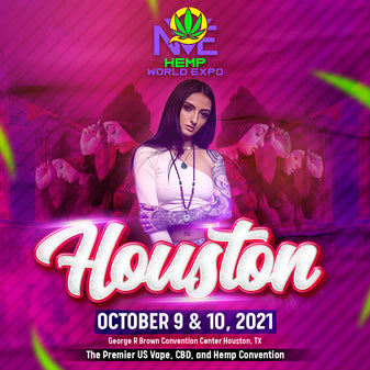 promo flyer for houston texas cannabis expo general admission