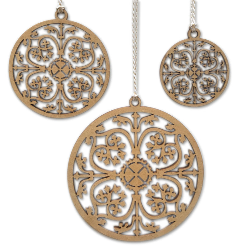 Damask Baubles (set of 3)