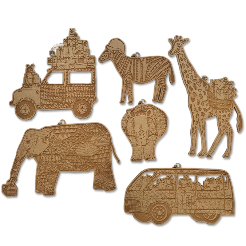 Christmas Safari Baubels (set of 6)