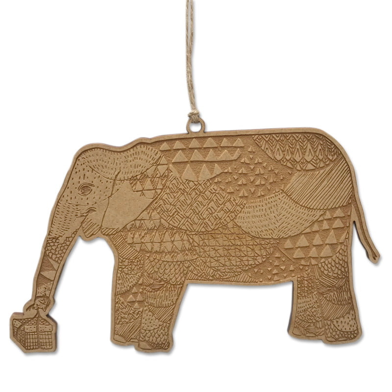 Christmas Safari Elephant Bauble
