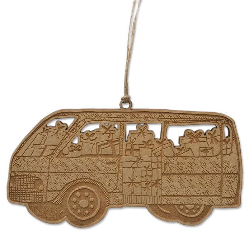 Christmas Safari Taxi Bauble