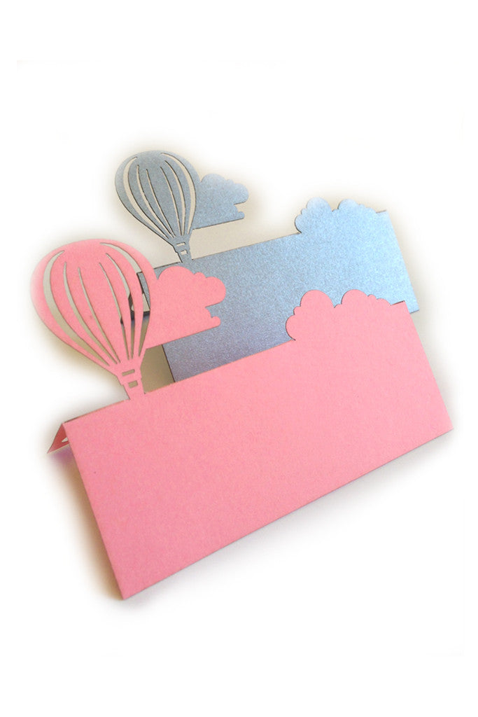 Hot Air Balloon Place Name Card