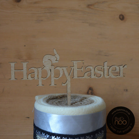 Happy Easter Cake Topper Small