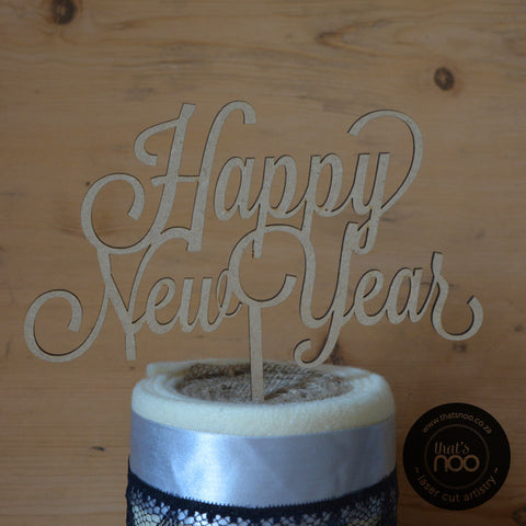 Happy New Year Cake Topper