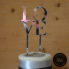 Love Stacked Cake Topper