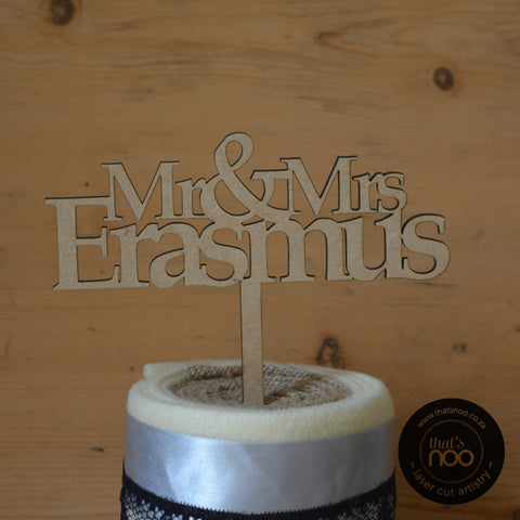 Personalised Serif Cake Topper