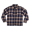 Pass Port Quilted Zip Up Flannel Navy