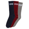 Vans Classic Crew Sock 3 Pack Red Multi