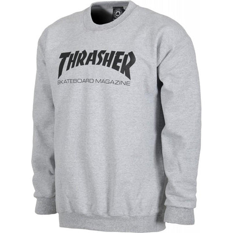 Thrasher Skate Mag Crewneck Light Grey