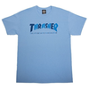Thrasher Checkers Tee Carolina Blue