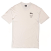 Stussy Left Chest City Stack Tee Solid White Sand