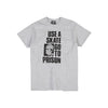Thrasher Use A Skate Go To Prison Tee Grey
