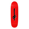 Deathwish Gang Logo Red/Blk Shaped Deck 9.1