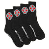 Independent OG Cross Socks 4 Pack Black