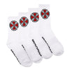 Independent OG Cross Socks 4 Pack White