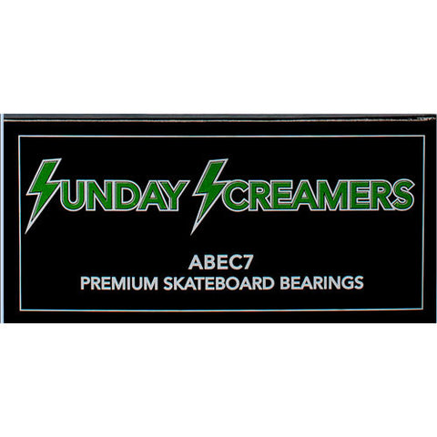 Sunday Hardware Co. Abec 7 Screamers Skateboard Bearings.