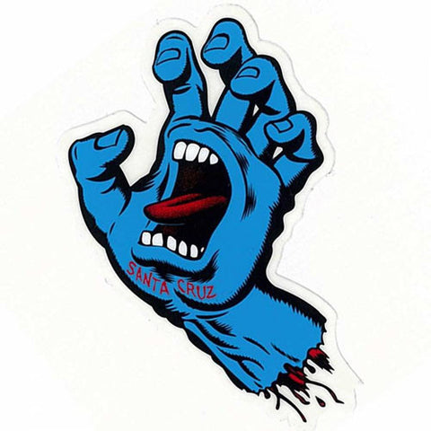 Santa Cruz Screaming Hand Sticker 6""