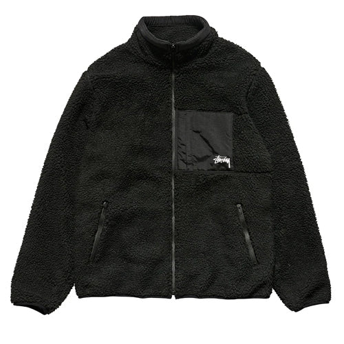 Stussy Sherpa Fleece Jacket Bl