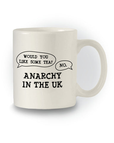 Tea Humour 'Anarchy In The UK' Joke Mug