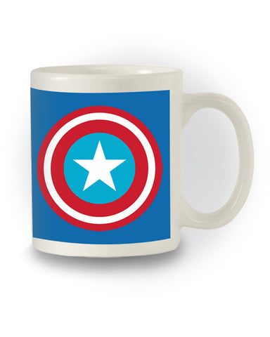 Comic Book Inspired 'Captain America' Logo Mug