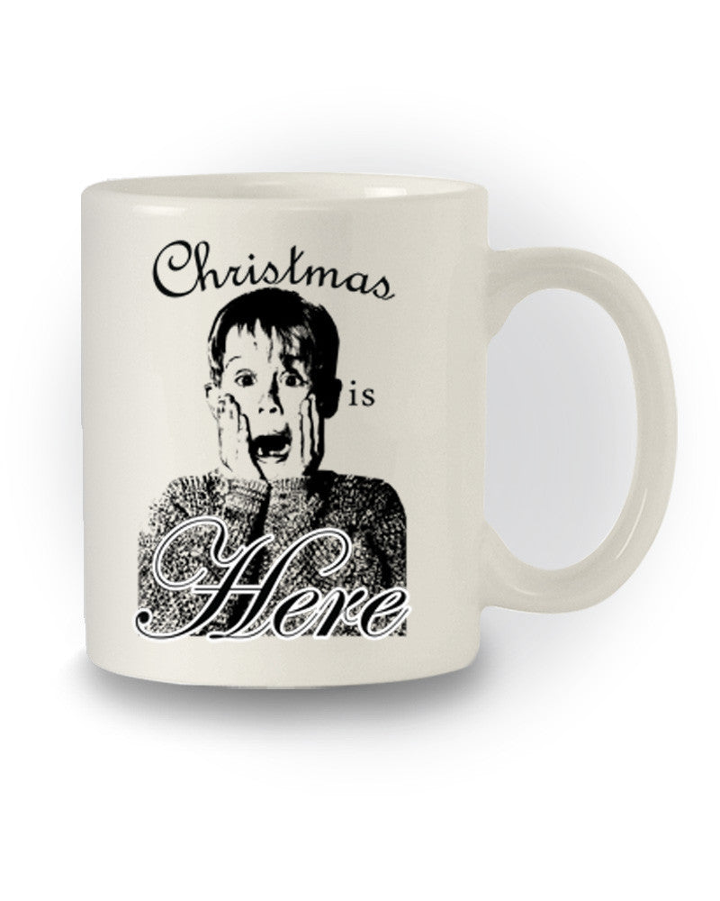 Home Alone Inspired 'Christmas Is Here' Film Mug