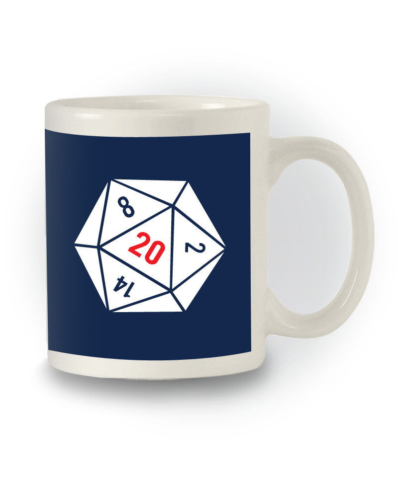 Dungeons & Dragons Inspired '20 Sided Dice' Geeky Mug