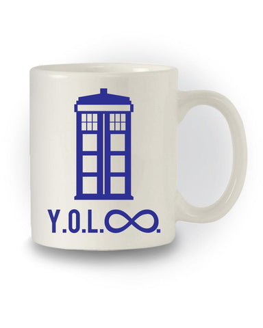 Doctor Who Inspired Sci-Fi 'You Only Live Infinity' Nerdy Mug