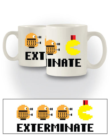 Doctor Who Inspired 'Exterminate Pac-Man' Sci-Fi Mug