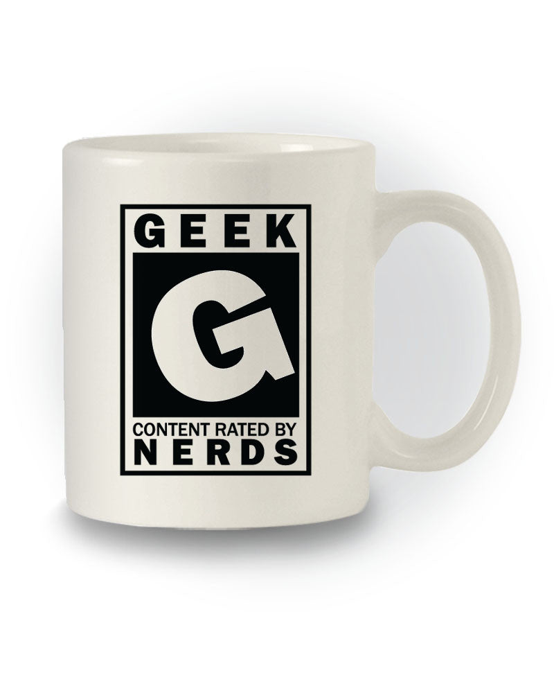 Nerdy 'Rated G for Geeks' Funny Mug