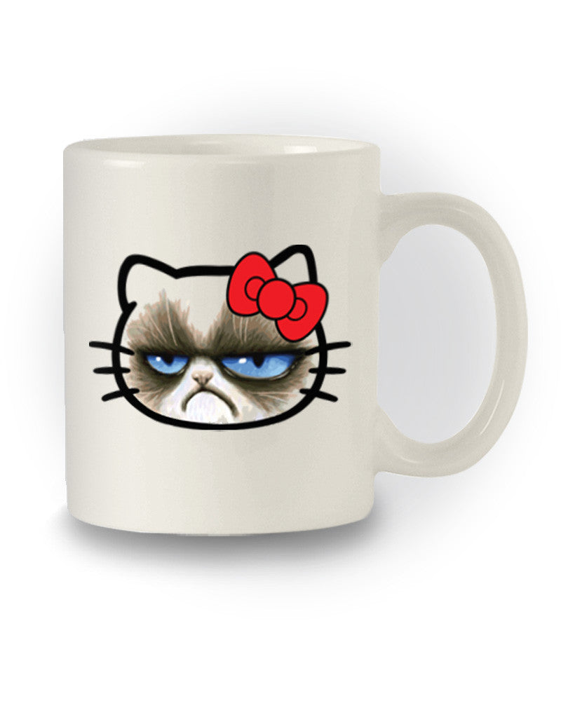 Meme Inspired 'Grumpy Cat Hello Kitty' Joke Mug