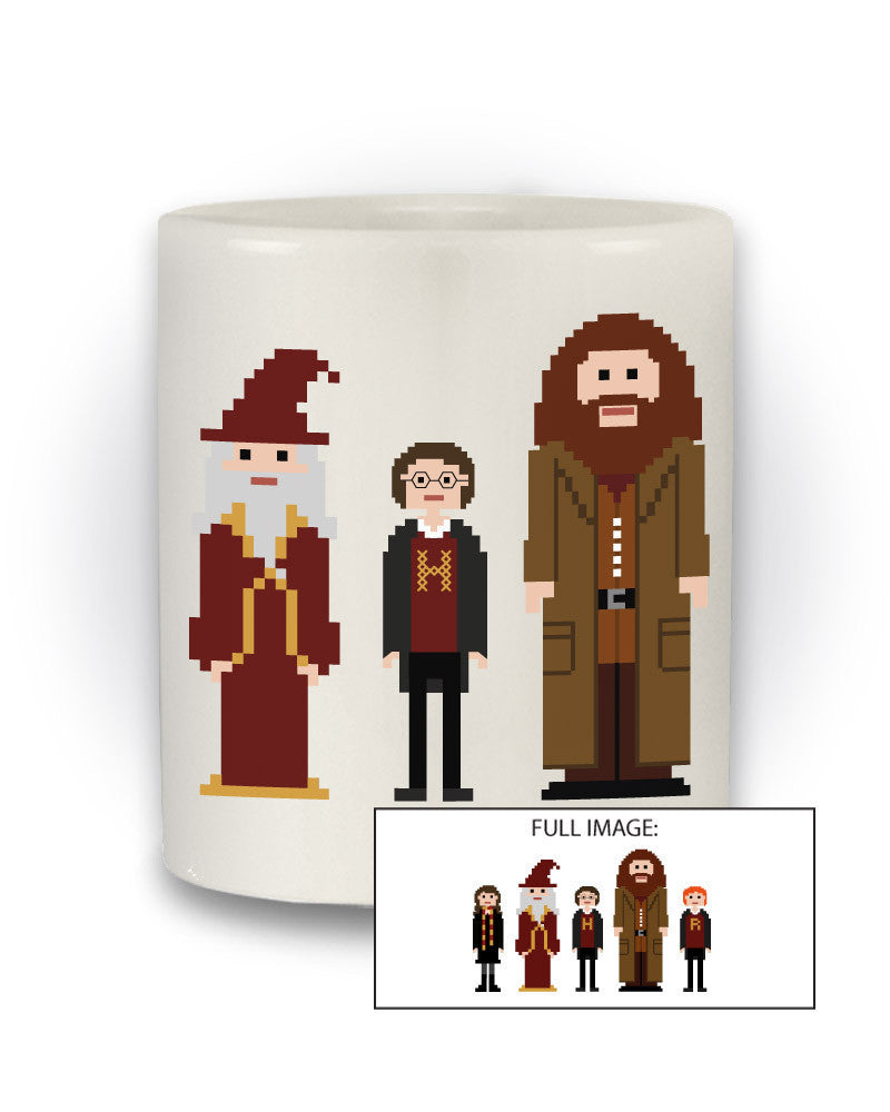 Harry Potter Inspired Geeky 'Pixel Character' Mug
