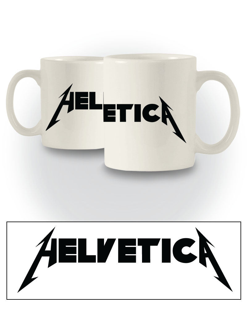 Joke Typeface 'Metallica Logo' Graphic Design Mug