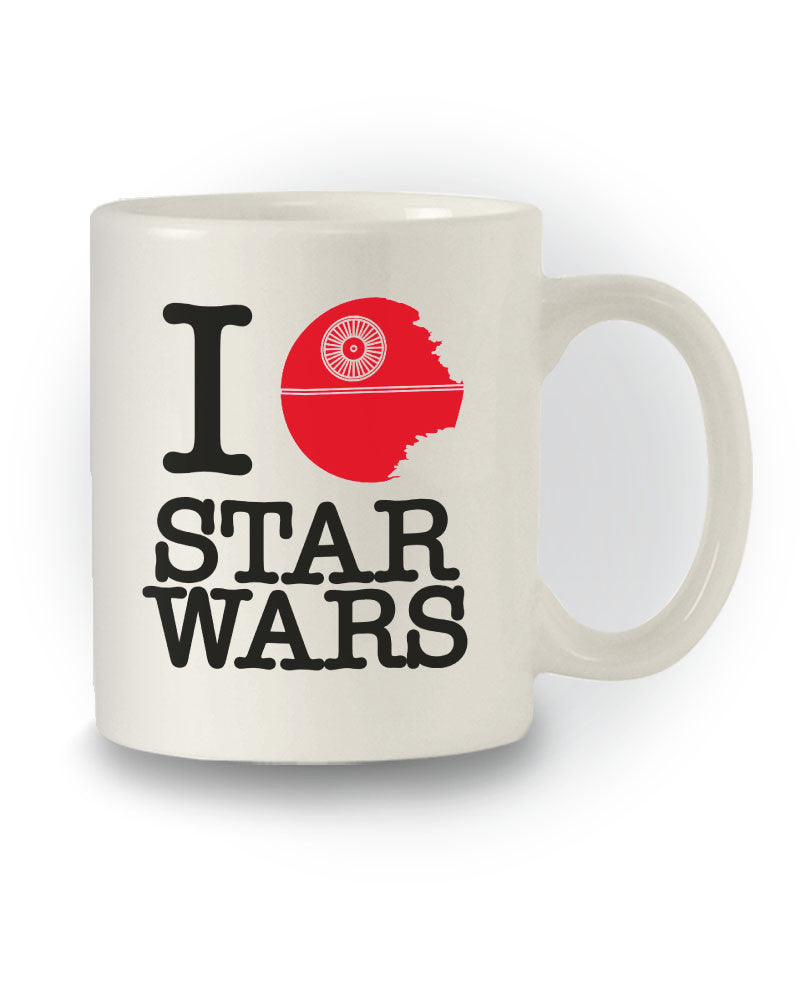 Star Wars Inspired 'I Heart Death Star' Geeky Mug