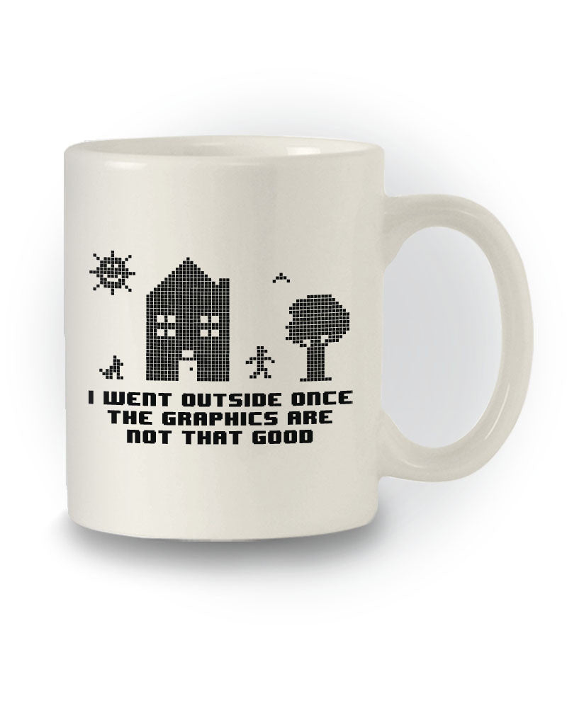 Gaming Retro 'I Went Outside Once' Funny Mug