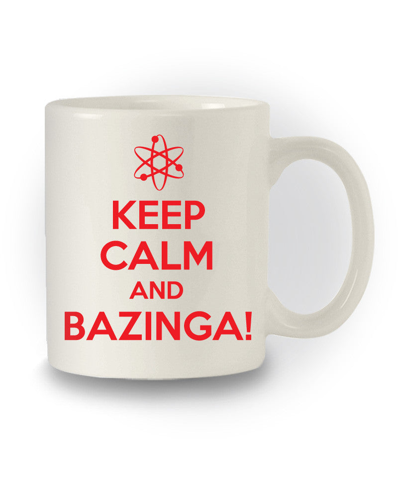 TBBT Inspired 'Keep Calm And Bazinga' Nerdy Mug