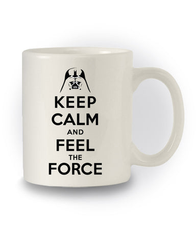 Star Wars Inspired 'Keep Calm and Feel The Force' Nerdy Mug