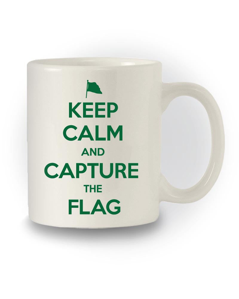 Gaming Inspired 'Keep Calm and Capture the Flag' Mug