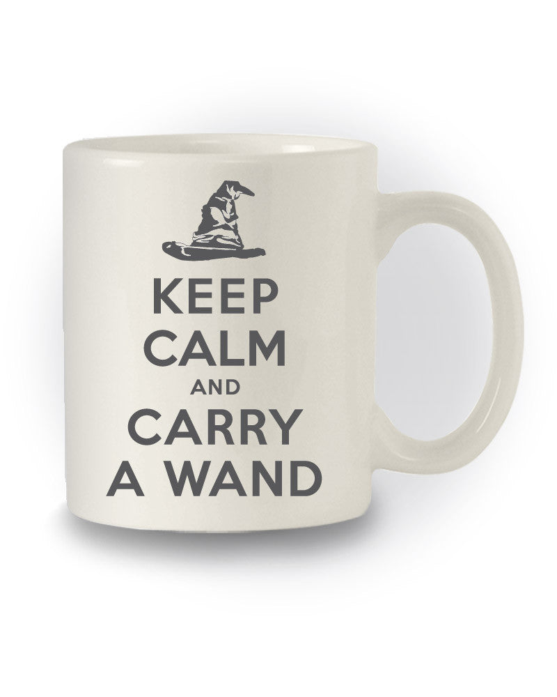 Harry Potter Inspired 'Keep Calm and Carry A Wand' Nerdy Mug