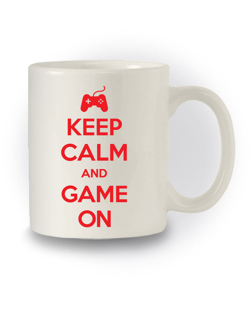 Gaming 'Keep Calm and Game On' Funny Mug