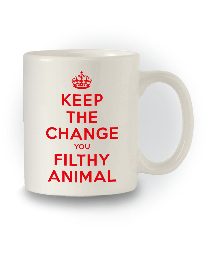 Home Alone Inspired 'Keep the Change You Filthy Animal' Film Mug
