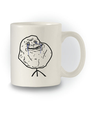 Meme Inspired 'Forever Alone' Joke Mug