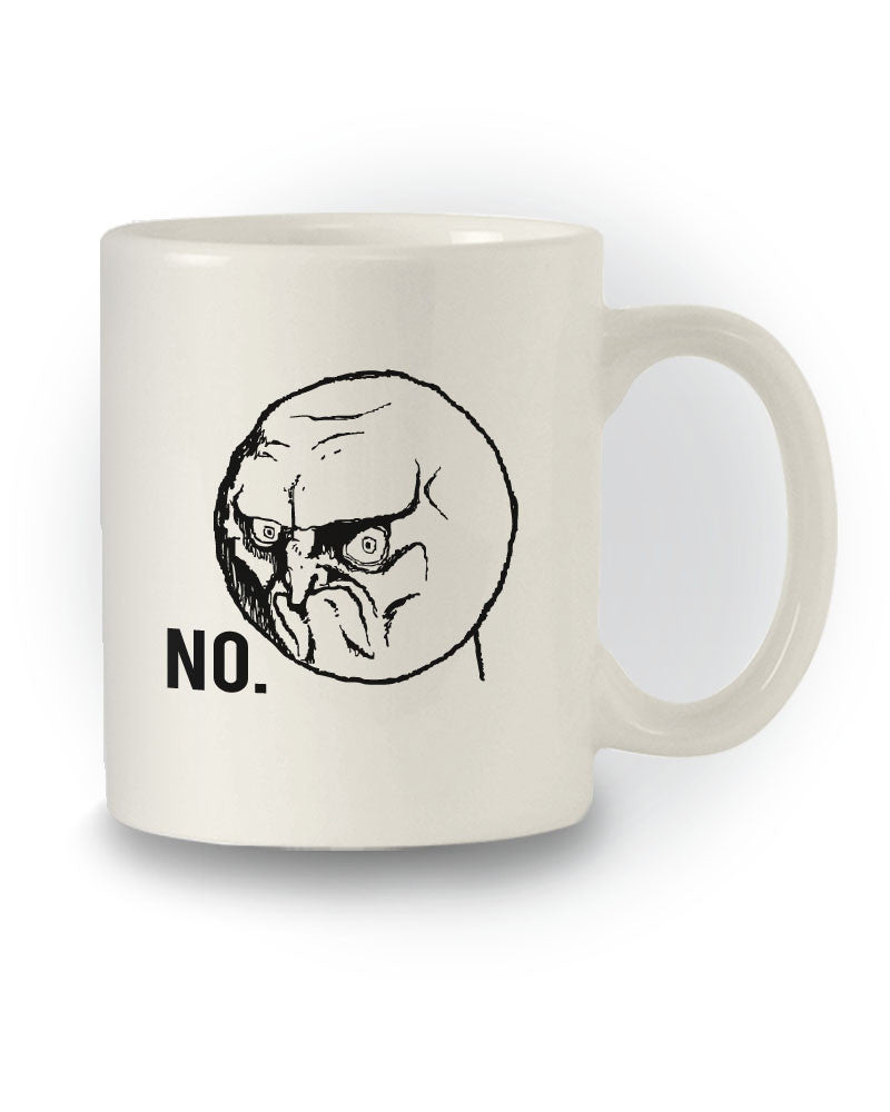 Meme Inspired 'NO Rage Face' Joke Mug