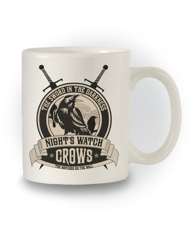 Nights Watch Crows Crest' Game of Thrones Inspired Mug