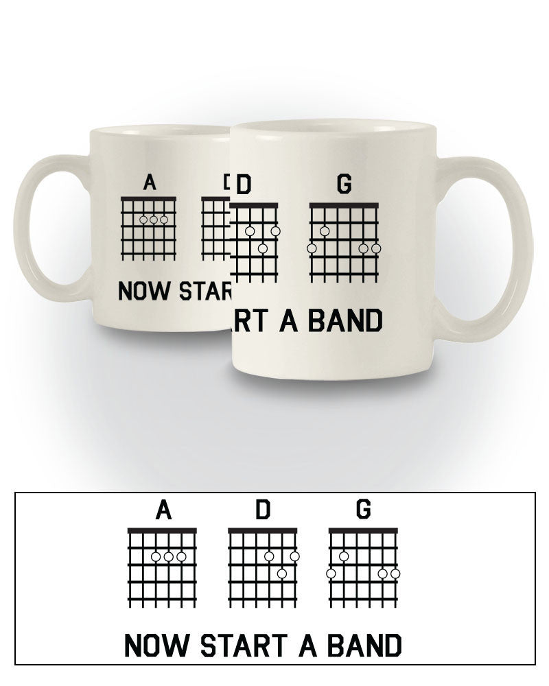 Music Inspired 'Now Start A Band' Funny Mug