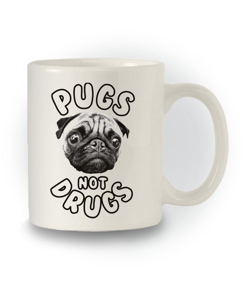 Funny 'Pugs Not Drugs' Mug