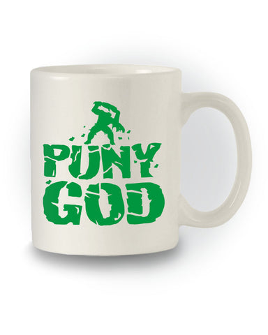 'Puny God' Superhero Mug